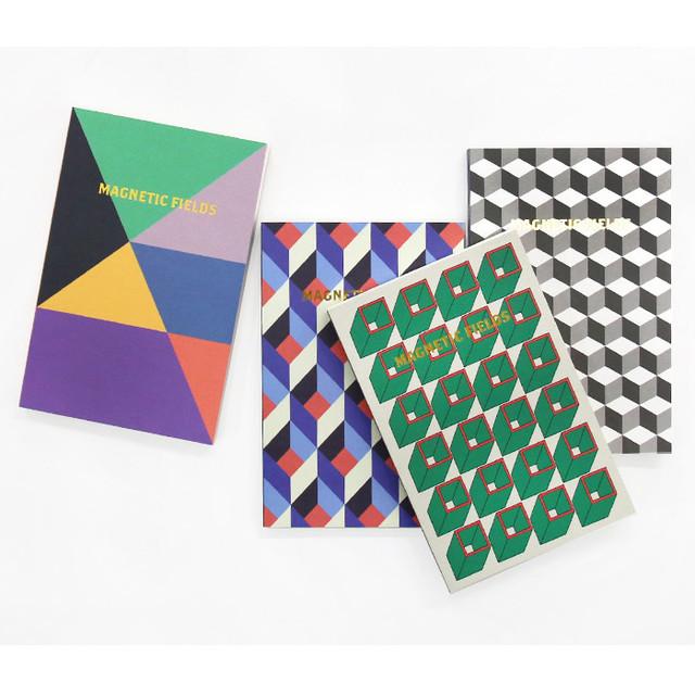 Geometric pattern pocket plain notebook