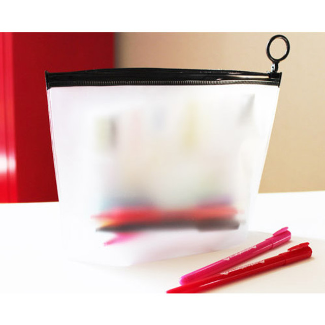Translucent zip lock multi pouch