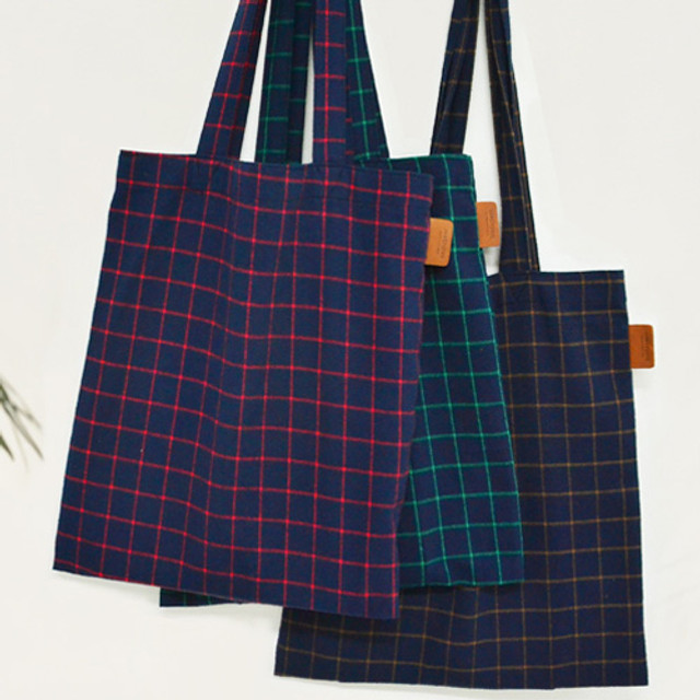 Jam studio Daily check ecobag shoulder tote bag