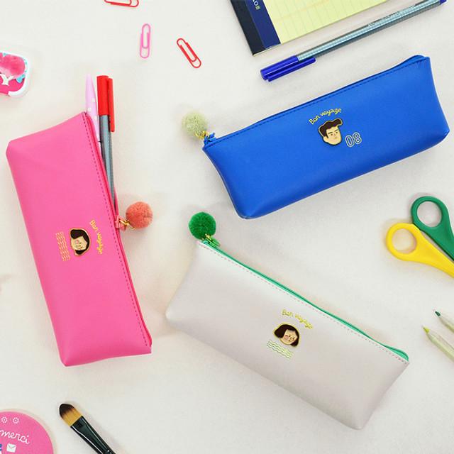 Jam studio Du-dum pom-pom zipper pencil case