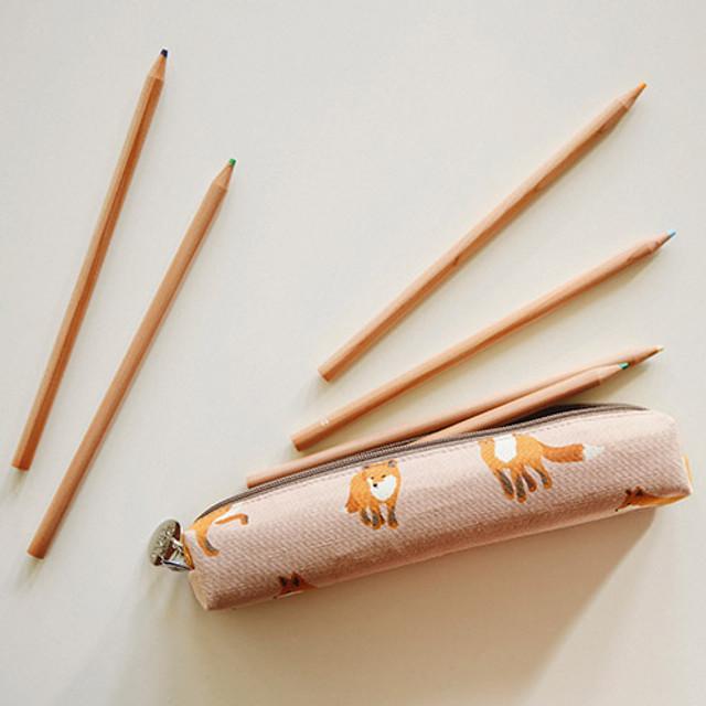 For your heart slim zipper pencil case