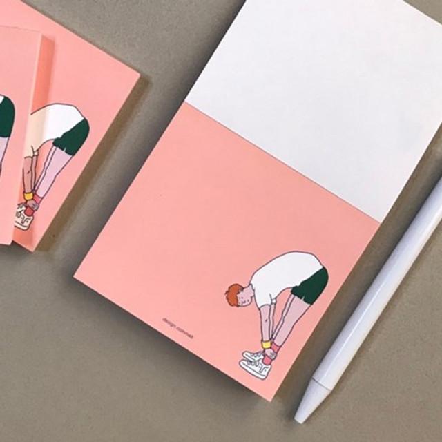 Memowang pastel boy illustration memo pad