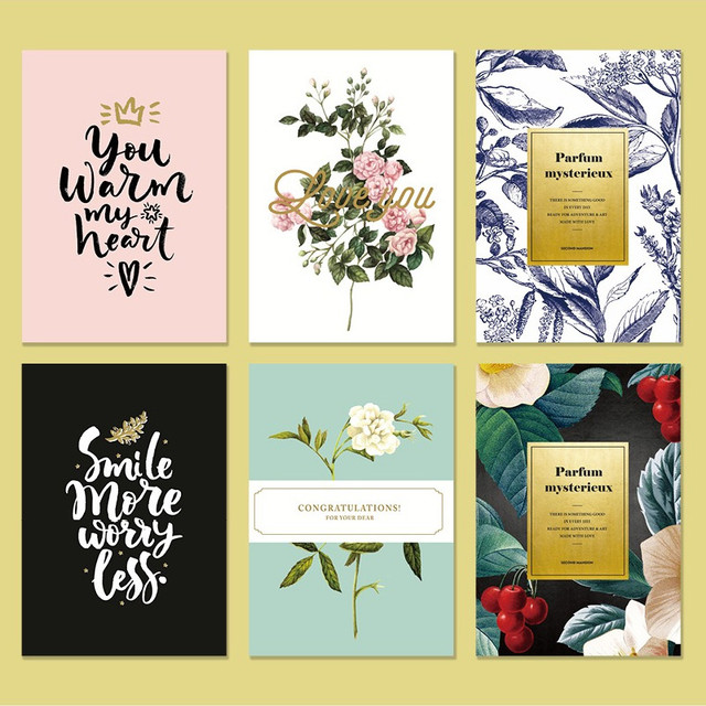 Blossom illustration letter paper and envelope set