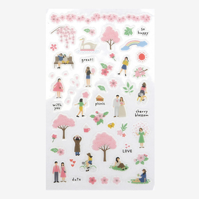 Daily transparent sticker - Cherry blossom