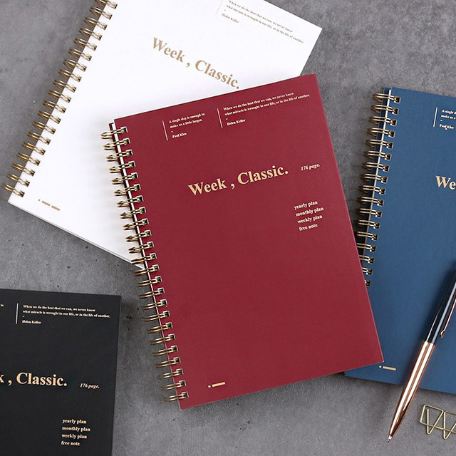 Wanna This Classic spiral bound dateless weekly diary planner