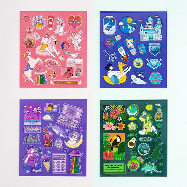 Ardium Pop illustration colorful point paper deco sticker