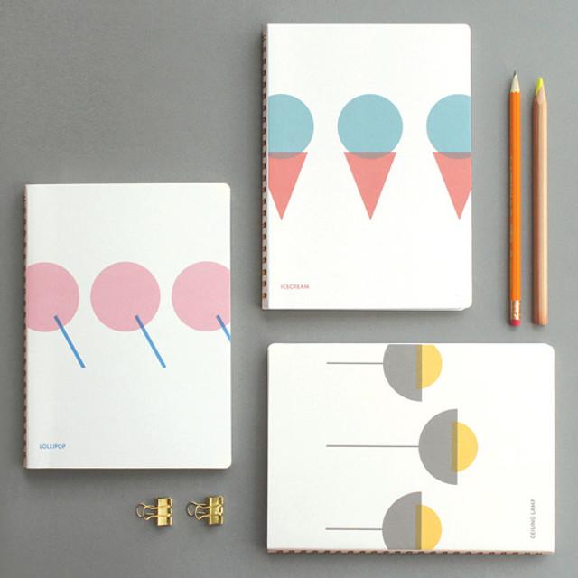designlab kki Combination spiral large lined blank notebook