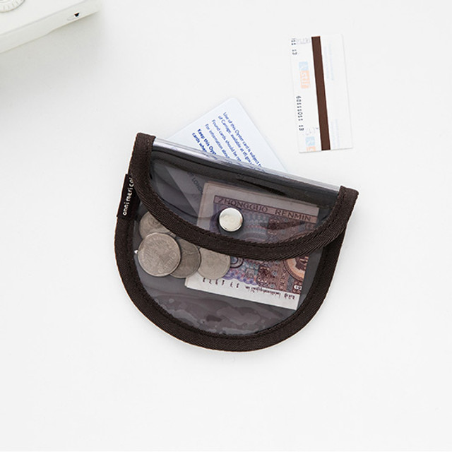 Livework Coi clear PVC snap button card case wallet