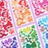 Second Mansion Hologram confetti removable sticker seal 01-06