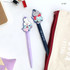 A set - Romane Hello Korea black gel pen set 0.38mm