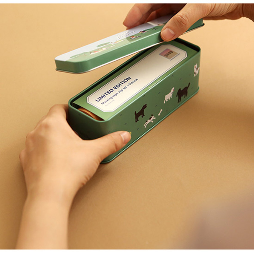 Usage example - Dailylike Go to picnic 10 masking tapes set with tin case