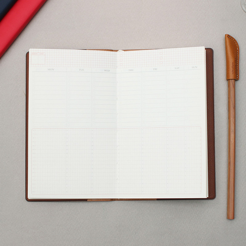 Bookfriends ABC small dateless weekly planner scheduler