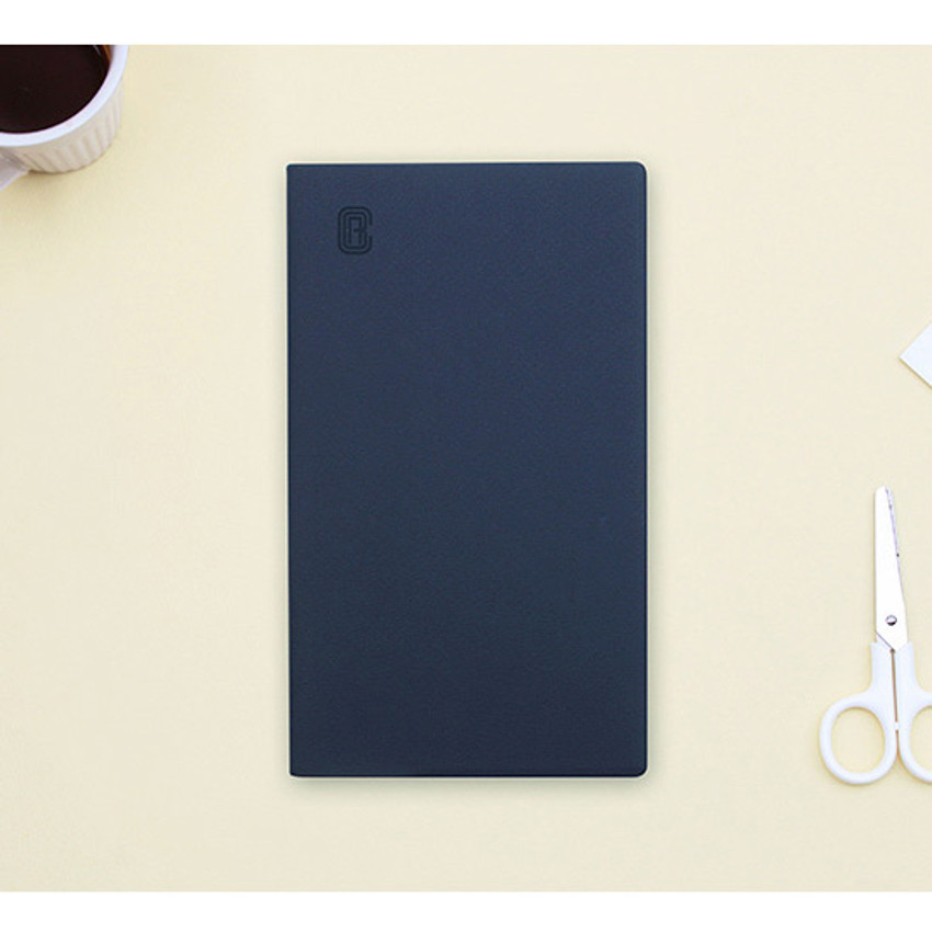 Navy - Bookfriends ABC small grid notebook