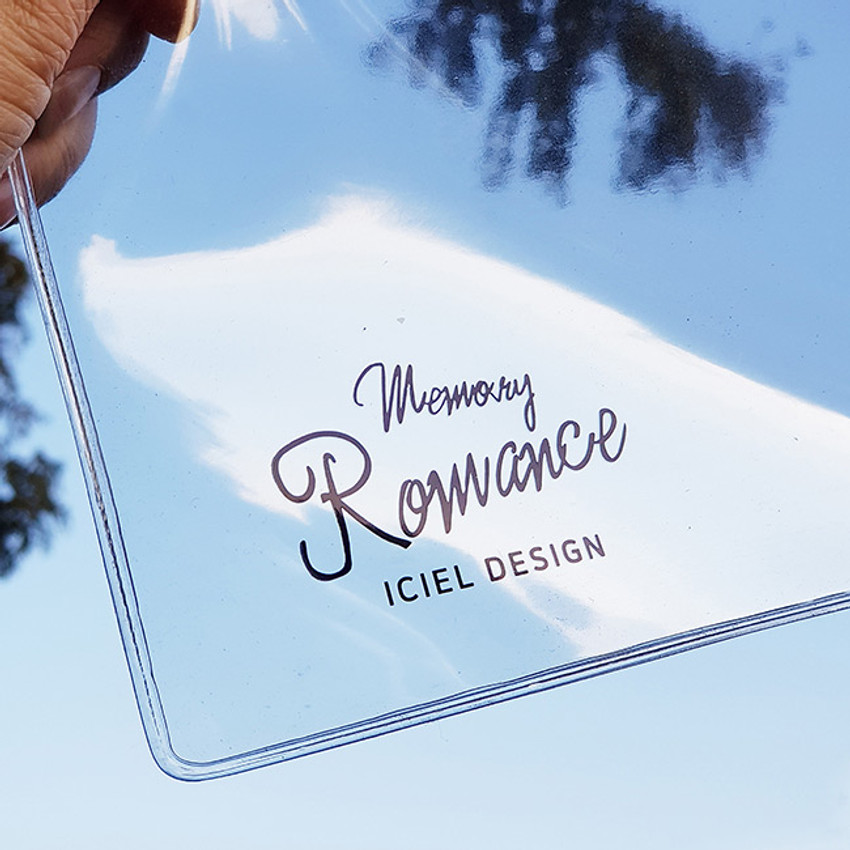 Clear PVC pouch - ICIEL Memory romance clear PVC diary planner pouch