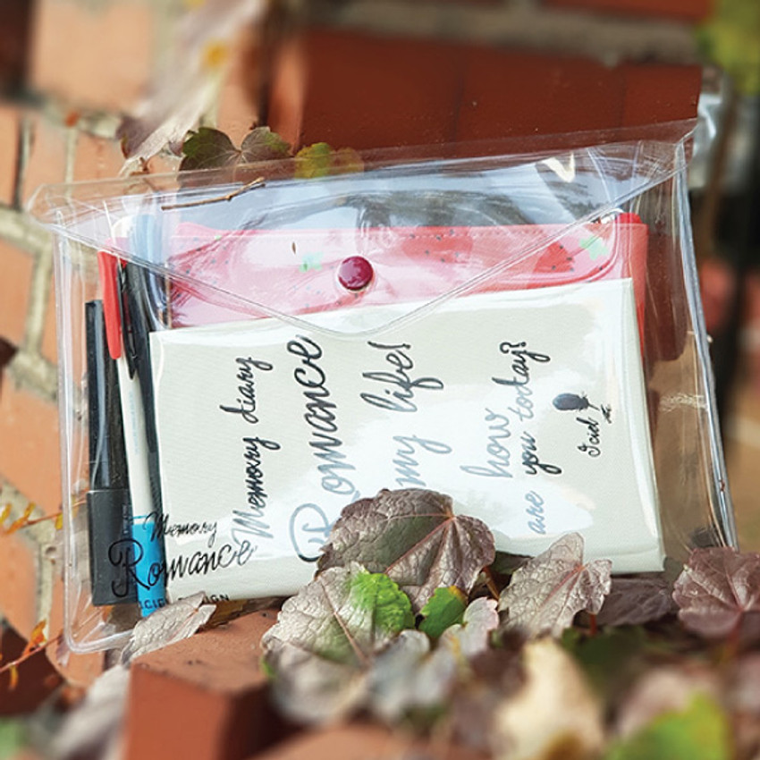 Usage example - ICIEL Memory romance clear PVC diary planner pouch