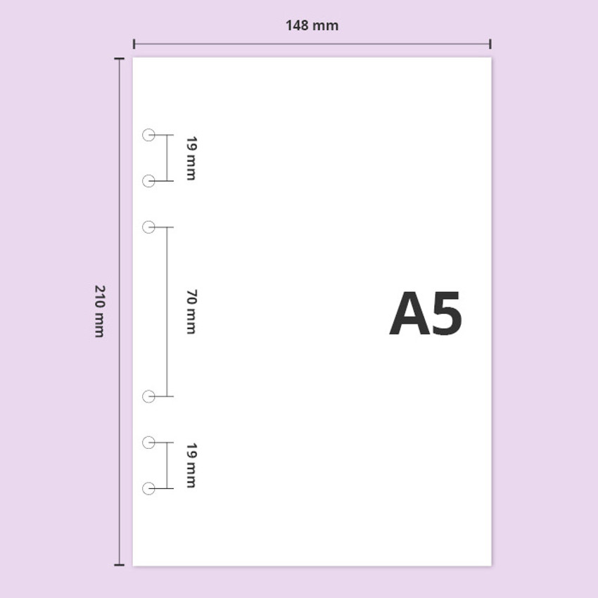 A5 size - Second Mansion Retro A5 6-ring dateless weekly diary planner