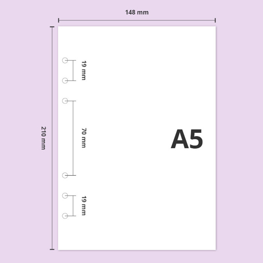 A5 size - Second Mansion Piece of You A5 6-ring dateless weekly diary