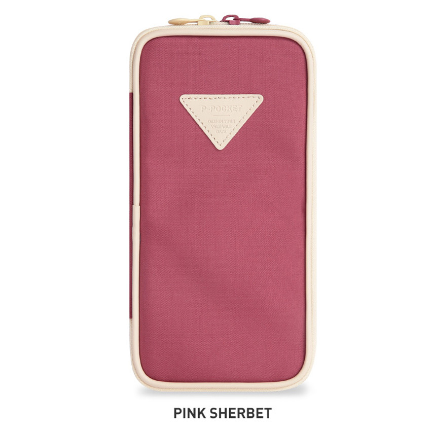 Pink Sherbet - Monopoly P pocket zipper pencil case pouch