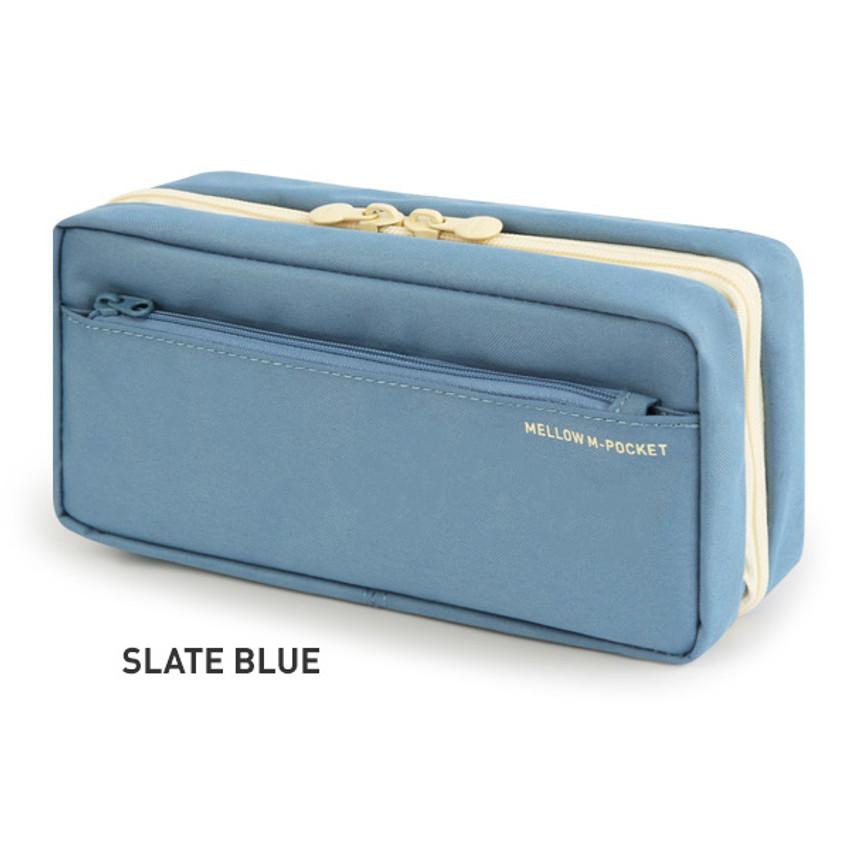 Slate blue - Monopoly Mellow M-pocket zipper pencil case pouch