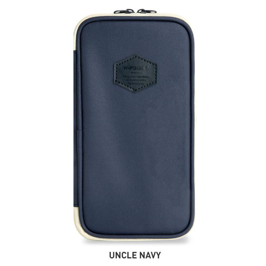 Uncle Navy - Monopoly W double pockets zipper pencil case pouch