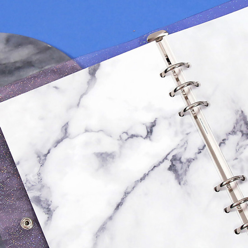 Marble - Second Mansion But today 6-ring A5 size diary planner refill