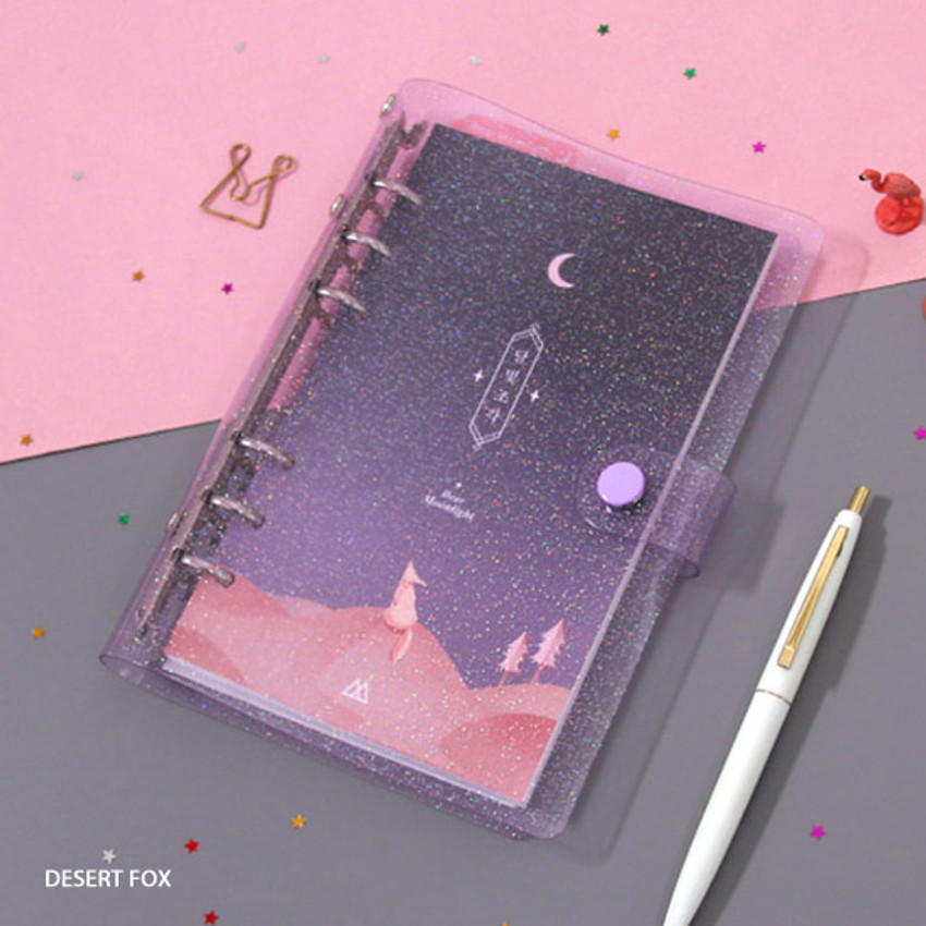 Desert fox - Twinkle moonlight A6 6 ring dateless weekly diary planner