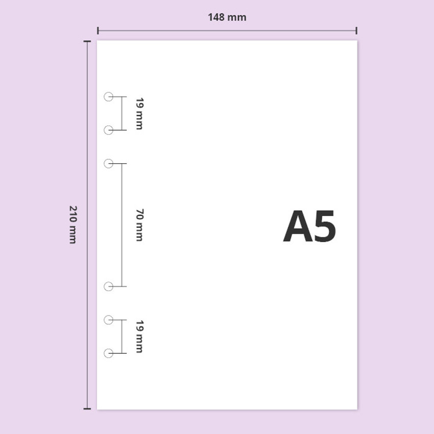 A5 - Second Mansion Grid 6-ring A5 size planner notebook refill