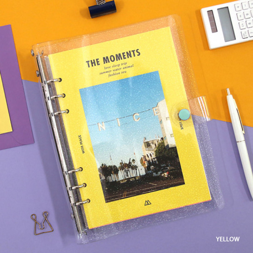 Yellow - Second Mansion Moment A5 6ring dateless weekly diary planner