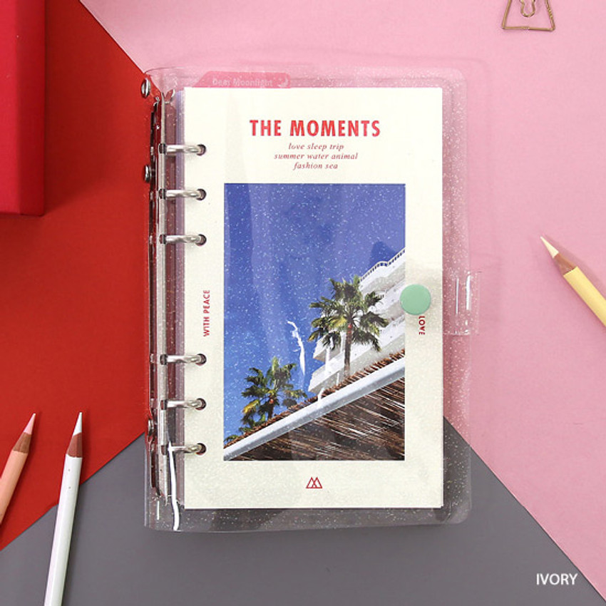 Ivory - Second Mansion Moment A6 6-ring dateless weekly diary planner