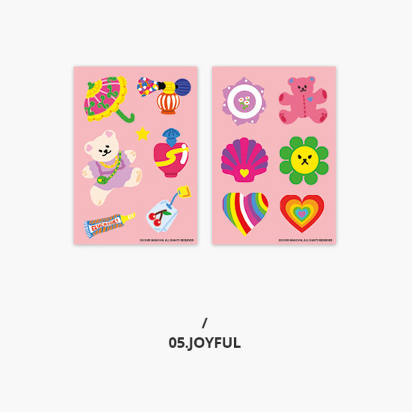 Joyful - Second Mansion Retro mood deco sticker sheets set
