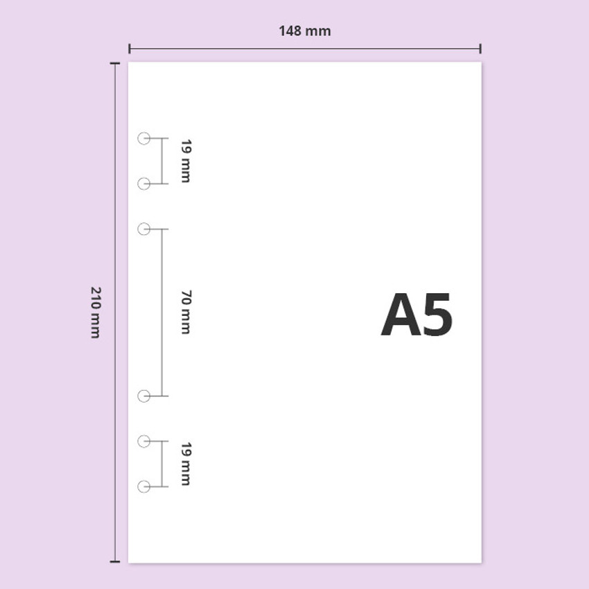 A5 size - Twinkle moonlight A5 6-ring dateless weekly diary planner