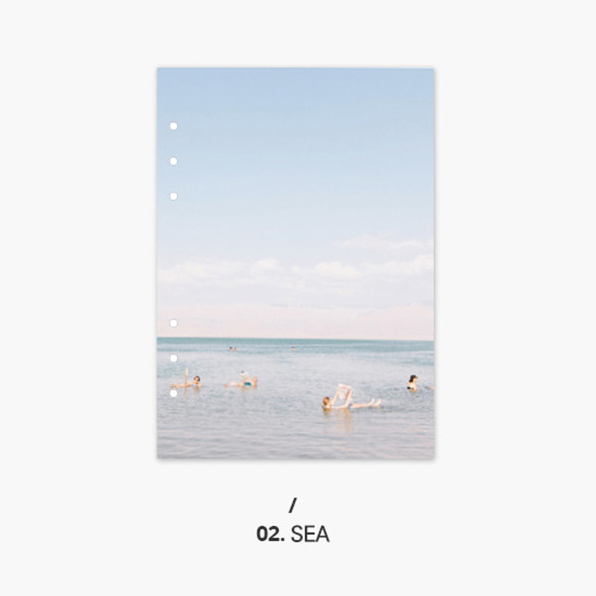 Sea - Second Mansion Moment 6-ring A5 size planner notebook refill