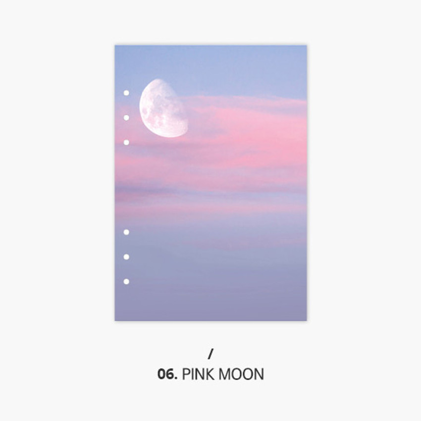 Pink moon - Second Mansion Moment 6-ring A5 size planner notebook refill