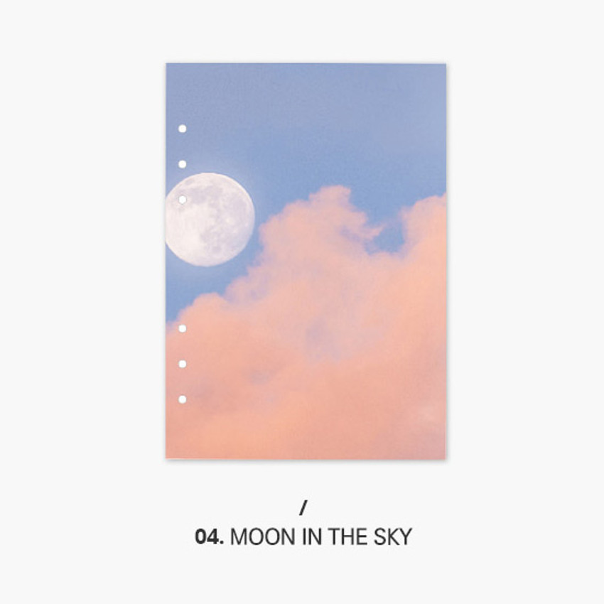 Moon in the sky - Second Mansion Moment 6-ring A5 size planner notebook refill