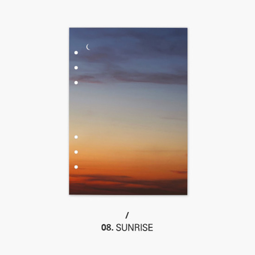 Sunrise - Second Mansion Moment 6-ring A5 size planner notebook refill