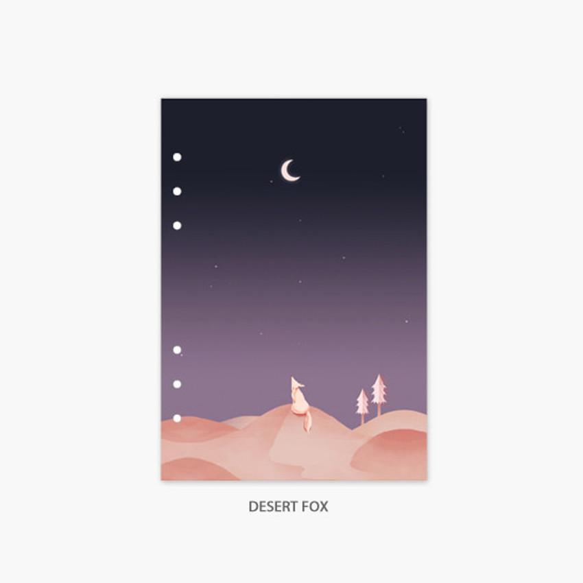Desert fox - Second Mansion Moonlight 6-ring A5 planner notebook refill