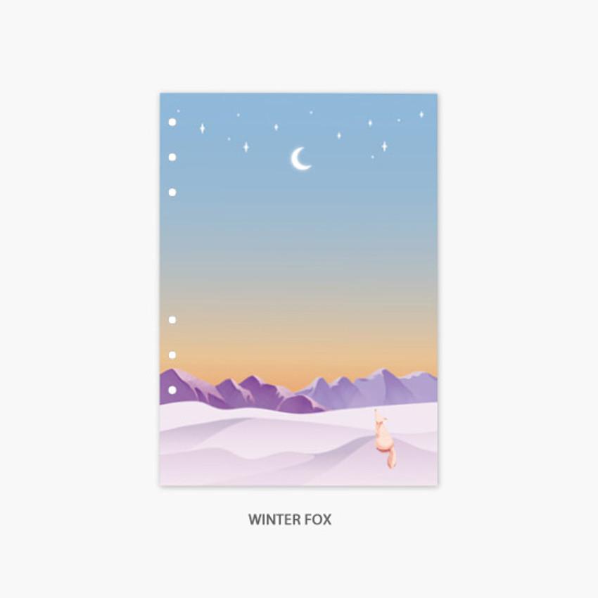 Winter fox - Second Mansion Moonlight 6-ring A5 planner notebook refill