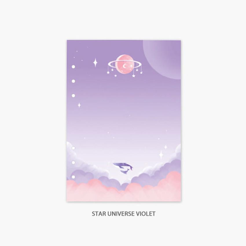 Star universe violet - Second Mansion Moonlight 6-ring A5 planner notebook refill