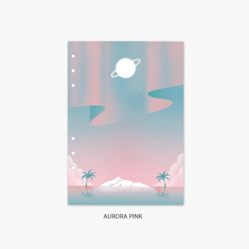 Aurora pink - Second Mansion Moonlight 6-ring A5 planner notebook refill