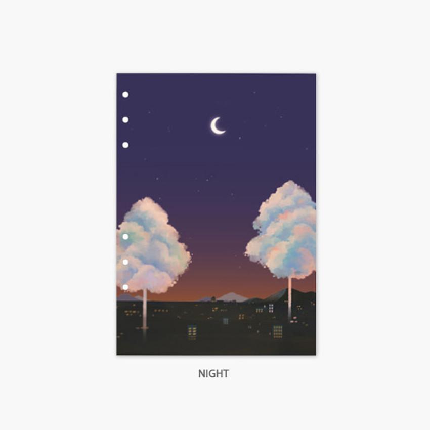 Night - Second Mansion Moonlight 6-ring A5 planner notebook refill