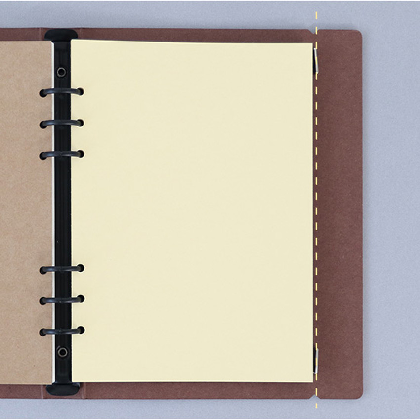 Elastic band closure - PAPERIAN Paperboard A5 size 6 ring binder with elastic band