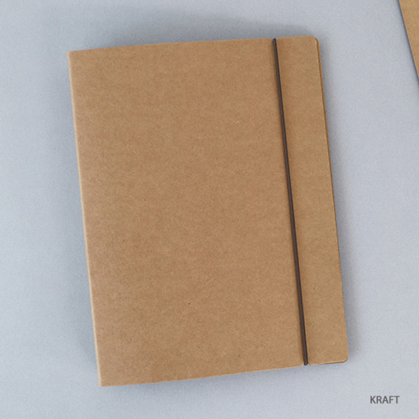 Kraft - PAPERIAN Paperboard A5 size 6 ring binder with elastic band