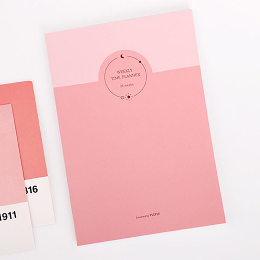 Pink - PLEPLE 25 weeks time dateless weekly diary planner