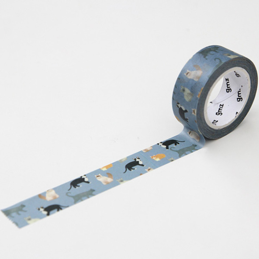 Cat - GMZ Lovable pattern paper deco masking tape