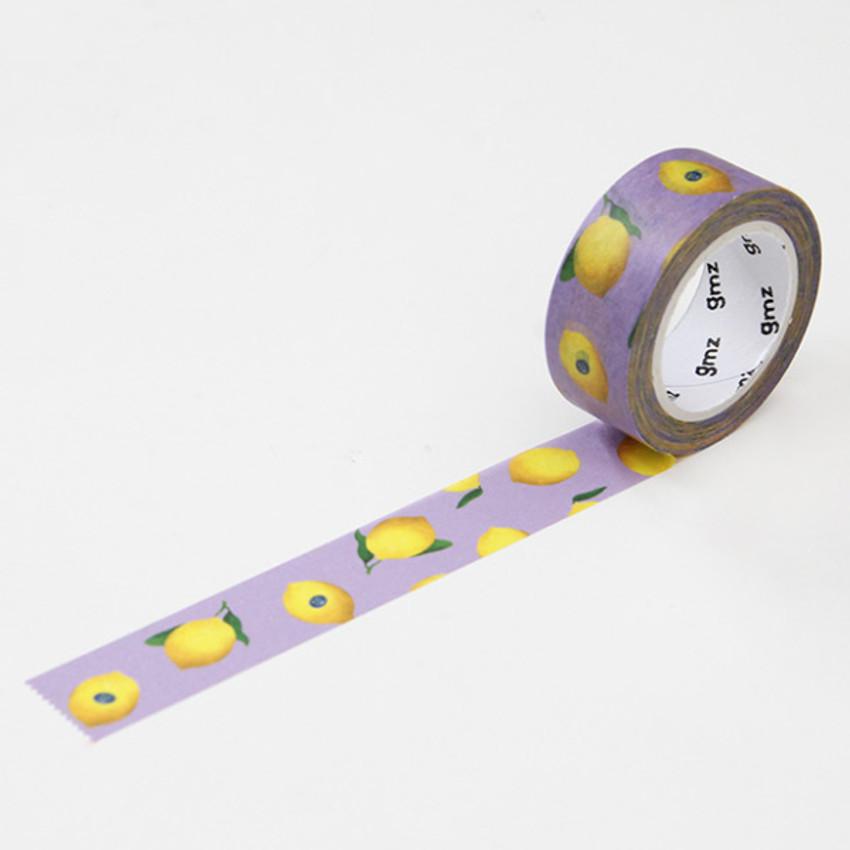Lemon - GMZ Lovable pattern paper deco masking tape