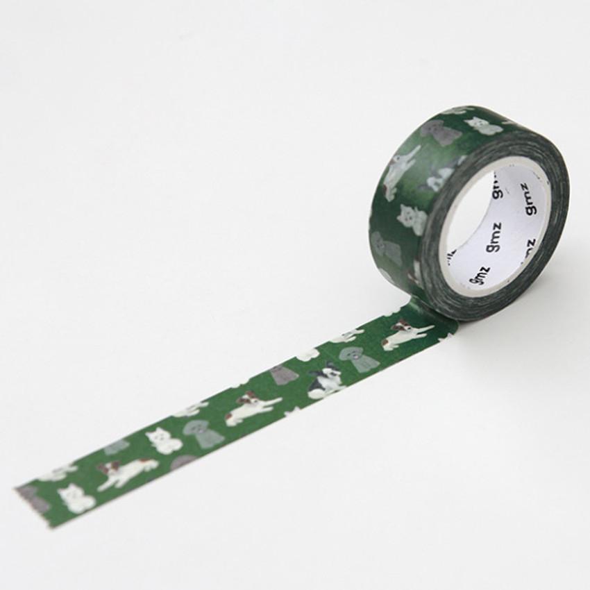 Dog - GMZ Lovable pattern paper deco masking tape
