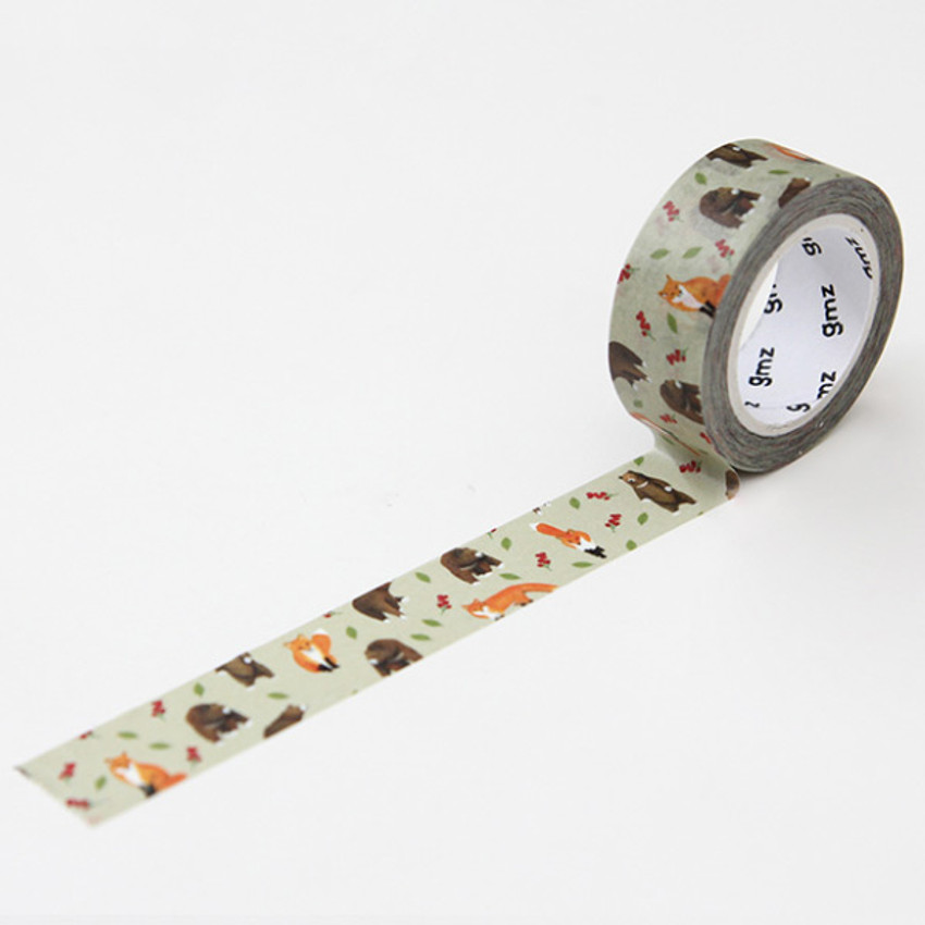 Fox Bear - GMZ Lovable pattern paper deco masking tape