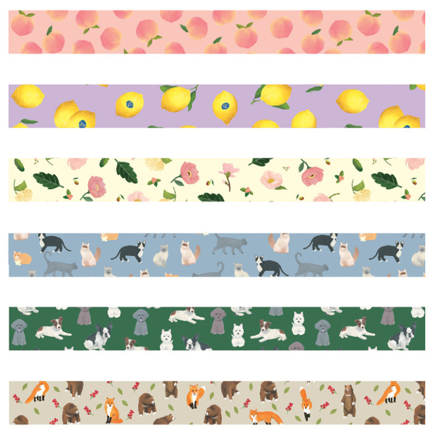 GMZ Lovable pattern paper deco masking tape