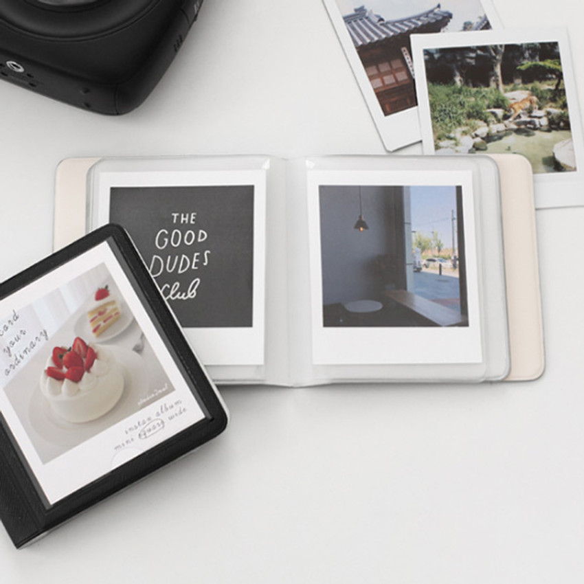 Usage example - 2NUL Instax polaroid square slip in pocket photo album