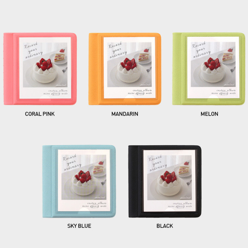 Color - 2NUL Instax polaroid square slip in pocket photo album